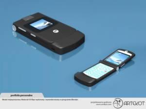 Model trójwymiarowy telefonu