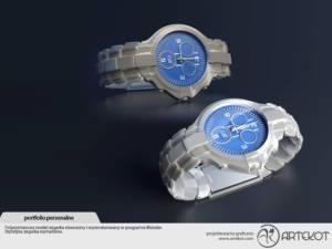 Model 3D zegarka własnego pomysłu