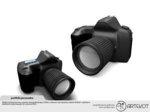 Model 3D aparatu fotograficznego