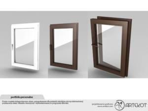 Model trójwymiarowy okien
