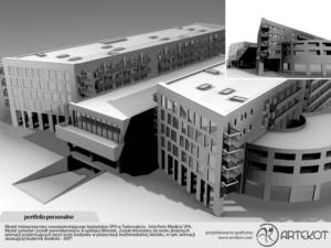 Model 3D kompleksu Medical SPA (zanim powstał)