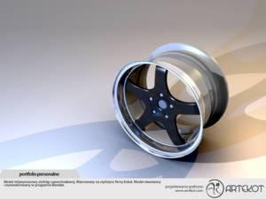 Model 3D felgi samochodowej