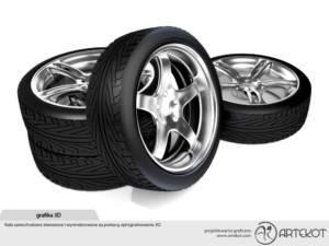 Modele 3D kół samochodowych