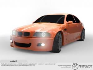 grafika 3D BMW E46