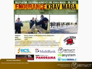 Baner internetowy dla Krav Maga z Lubina