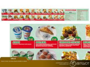 Baner z menu dla Ekushe Kebab
