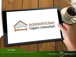 Logo dla pośrednictwa najmu mieszkań