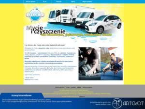 Strona internetowa myjni Luxcar
