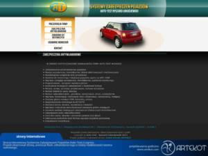 Strona z elementami Flash dla AutoTest