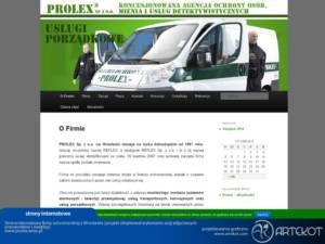 Strona internetowa CMS Prolex