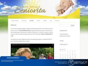 Strona CMS firmy Seniovita