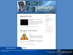 Strona internetowa dla Pomiarex