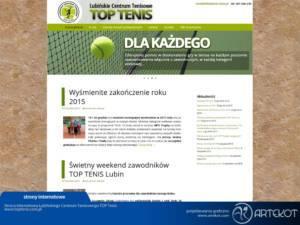Strona firmy Top Tenis
