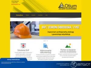 Strona internetowa dla BHP Otium