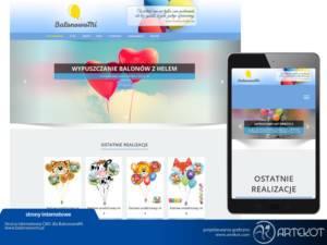 Responsywna strona CMS dla BalonowoMi