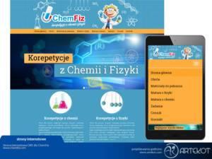 Responsywna strona CMS dla ChemFiz