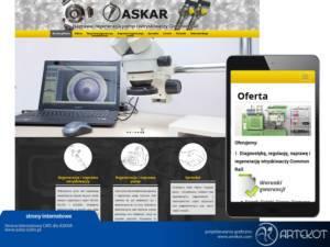 Responsywna strona CMS dla Askar