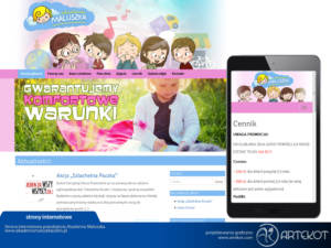Strona przedszkola Akademia Maluszka