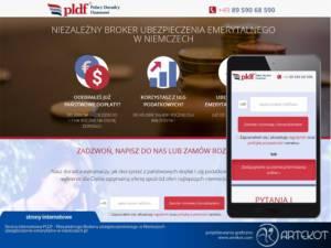 Strona internetowa PLDF z Niemiec