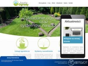 Strona internetowa CMS Agata Ogrody