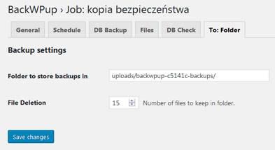 Miejsce na backup i ilość kopii