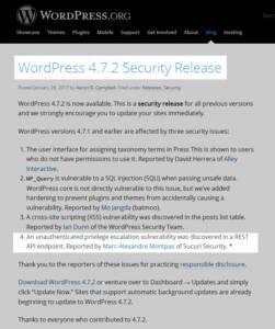 łatka bezpieczeństwa wordpress